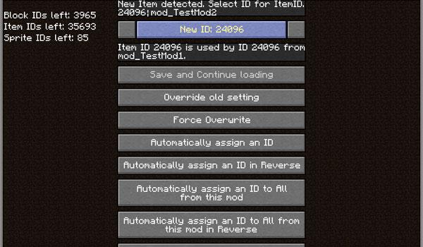ID Resolver Mod para Minecraft 1.5.1