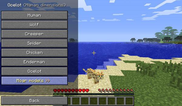 Shape Shifter Z Mod para Minecraft 1.5.1 y 1.5.2