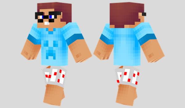 Noob Skin Para Minecraft MineCrafteo - Descargar skins para minecraft pe noob