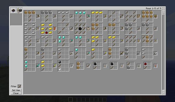 Recipe Book Mod para Minecraft 1.5.1 y 1.5.2
