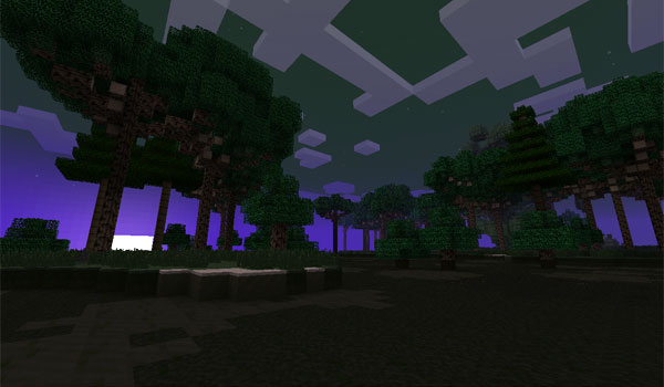 image where we see one of the new biomes that exist in the dimension of carboniferous mod 1.5.2