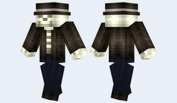 Punk Skeleton Skin para Minecraft