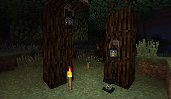 Unlit Torches and Lanterns 1.5.2