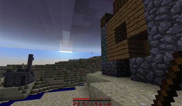 imagen del atardecer en el nuevo mundo que ofrece el mod the zombieland 1.5.2