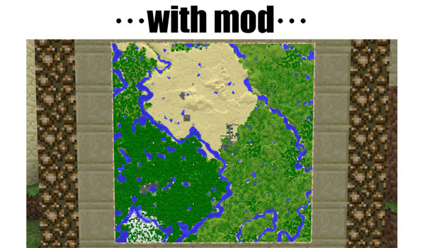 imagen donde vemos la función que añade el mod cartographer 1.6.2 y 1.6.4