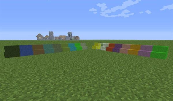 imagen donde podemos apreciar las escaleras de cristal de varios colores que añade el mod superglass 1.6.2