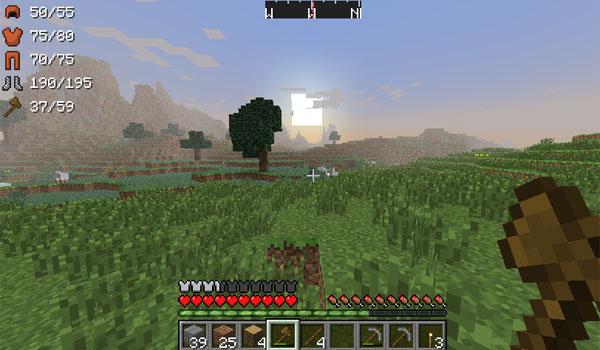 ArmorStatusHUD Mod para Minecraft 1.6.2 y 1.6.4
