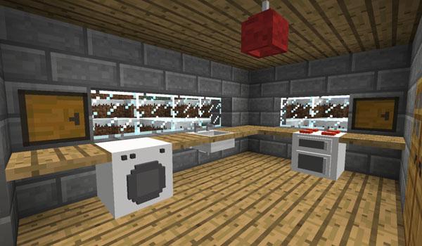 imagen de una cocina, usando los elementos decorativos del mod furniture 1.6.2