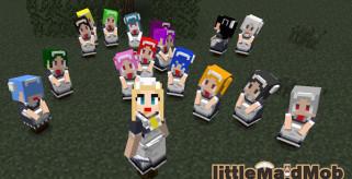 LittleMaidMob Mod para Minecraft 1.6.2