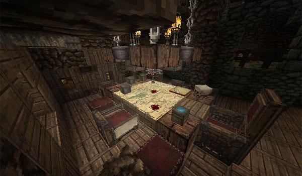 imagen de un comedor de una vivienda utilizando las texturas conquest texture pack 1.8