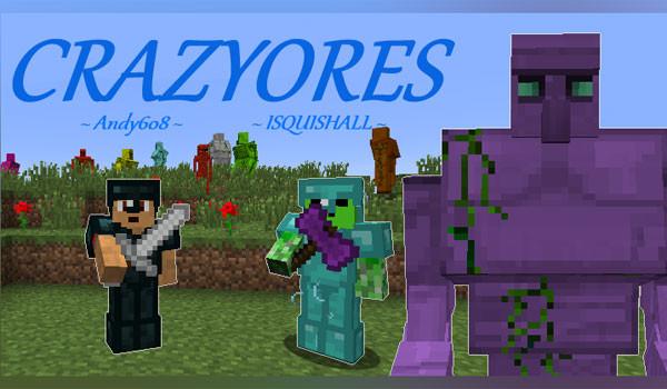 CrazyOres Mod para Minecraft 1.6.2 y 1.6.4