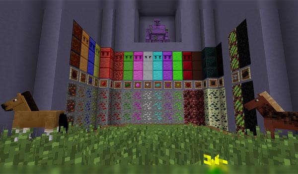 imagen de muestra donde vemos los nuevos minerales en sus respectivos orígenes, con el mod crazyores.