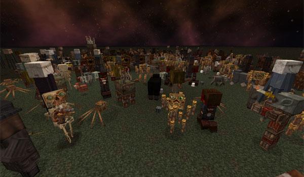 imagen donde podemos ver como el pack de texturas broken anachronism 1.7.2 muestra a los mobs de Minecraft.