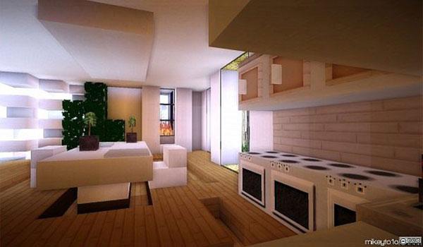 imagen del interior de una cocina usando las modernas texturas del pack modern hd 1.9 y 1.8