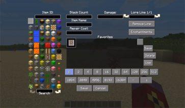 All-U-Want Inventory Editor Mod para Minecraft 1.7.2 y 1.7.10