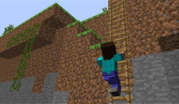 imagen donde vemos como el personaje flexiona los codos y las rodillas en Minecraft.