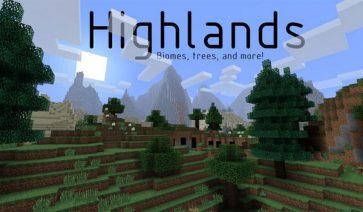Highlands Mod para Minecraft 1.7.2 y 1.7.10