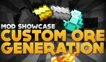 Custom Ore Generation Mod para Minecraft 1.7.2 y 1.7.10