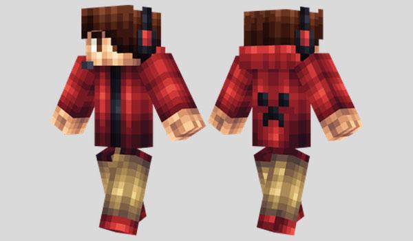 Red Hoodie Skin para Minecraft
