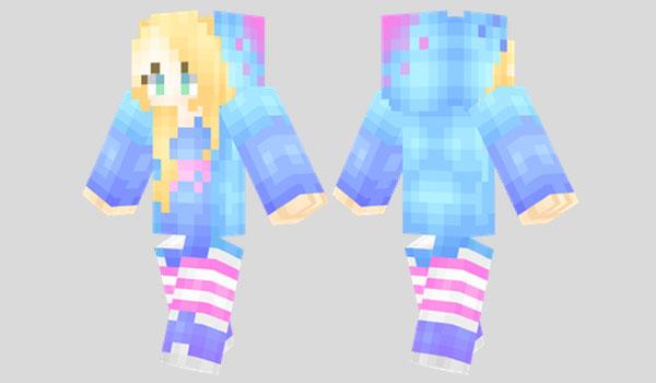 Bright Girl Skin Para Minecraft MineCrafteo - Skins para minecraft 1 8 nombres