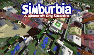 Simburbia City Simulator Map para Minecraft 1.8