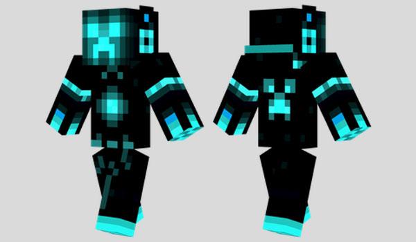 Tron Creeper Skin Para Minecraft MineCrafteo - Skin para minecraft or