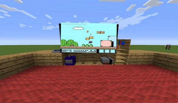 imagen donde vamos algunas videoconsolas de ejemplo, que añade el mod decorative game systems 1.7.10.