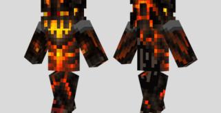 Fire Monster Skin para Minecraft