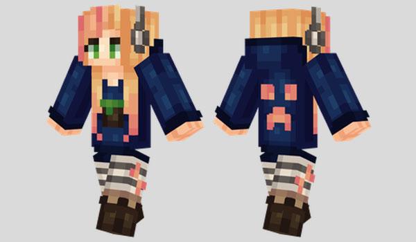 Gamer Girl Skin Para Minecraft MineCrafteo - Skins para minecraft descargar gratis