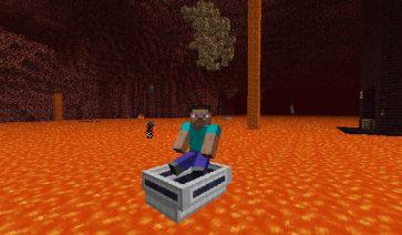 LavaBoat Mod para Minecraft 1.8