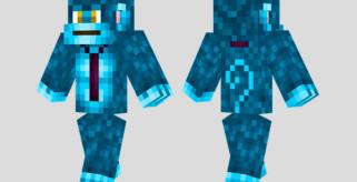Blue Monkey Skin para Minecraft