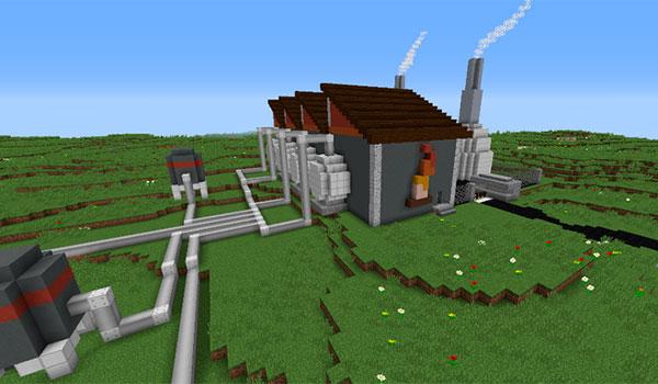 imagen de una de las edificaciones que nos encontraremos en el mapa de aventuras para Minecraft, Crack in the World 1.8.