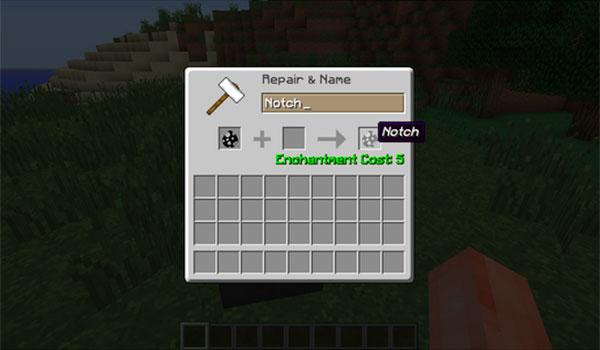 imagen donde podemos ver como nombrar al compañero humano del mod human mob 1.7.10.