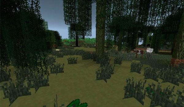 imagen de un bioma donde encontramos las arenas movedizas del mod more fun quicksand 1.7.10.