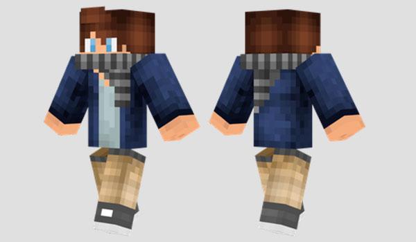 Scarf Boy Skin Para Minecraft MineCrafteo - Skins para minecraft 1 8 nombres