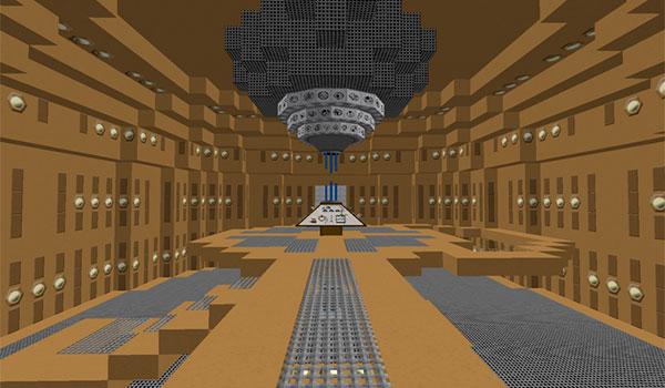 imagen del interior de nuestra TARDIS personal generada por el mod TARDIS 1.7.10.
