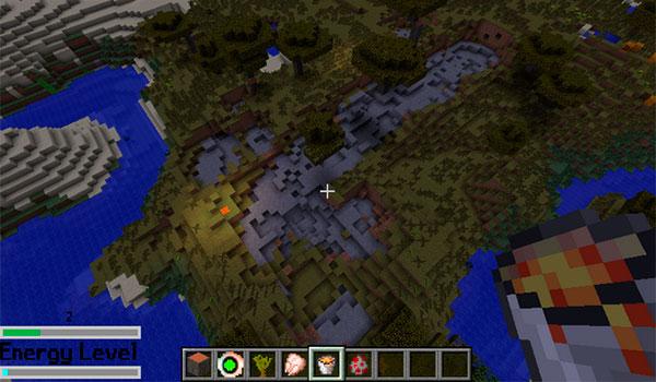 imagen de un jugar usando uno de los poderes del mod Elemental Masters Combat System 1.7.10.
