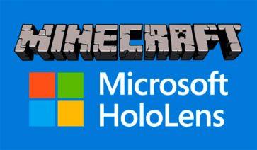 Microsoft anuncia y presenta una versión de Minecraft para Hololens.