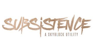 Subsistence Mod para Minecraft 1.7.10
