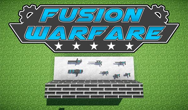imagen donde podemos observar algunas de las armas que añade el mod fusion warfare 1.7.10.