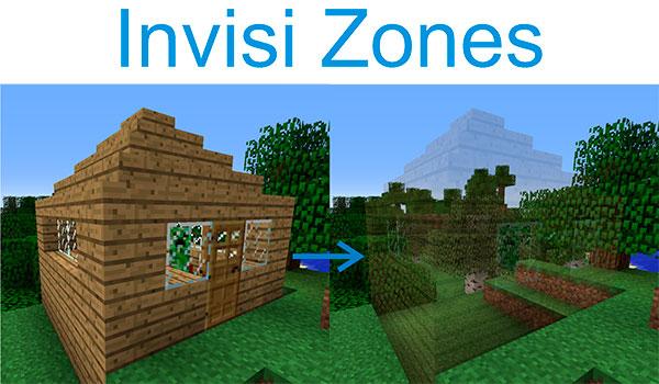 Invisi Zones Mod para Minecraft 1.7.10
