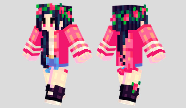 Red Roses Skin para Minecraft