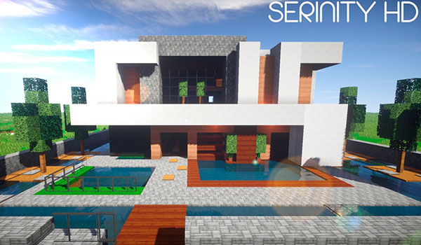 Serinity hd texture pack para minecraft 1 8 minecrafteo for Casa moderna 1 8