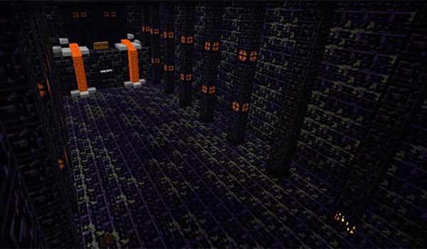 imagen donde vemos la mazmorra donde está Herobrine, en el mod the daventure 1.8.