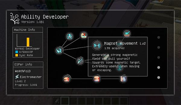 imagen donde podemos ver el mapa de habilidades especiales que podemos aprender y desarrollar con nuestro personaje de Minecraft.