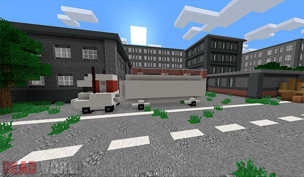 imagen donde vemos un camión estacionado en una calle del mod dead world 1.8.