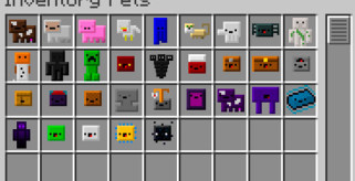 Inventory Pets Mod para Minecraft 1.7.10