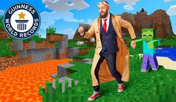 Record Guinness 4 años andando en Minecraft