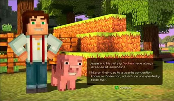 Primer gameplay oficial de Minecraft: Story Mode