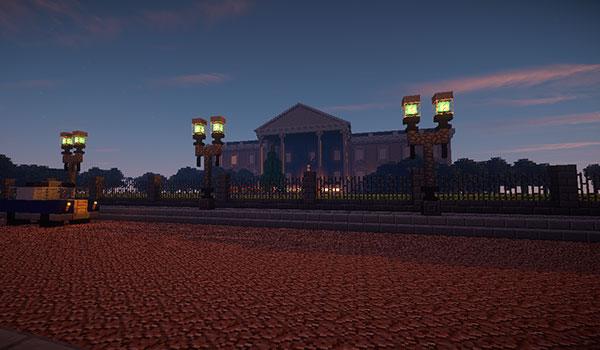 imagen desde la Avenida Pensilvania, con la Casa Blanca al fondo de la imagen.